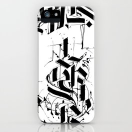CALLIGRAPHY N°6 ZV iPhone Case