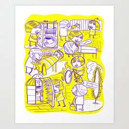 Lovers Game Art Print