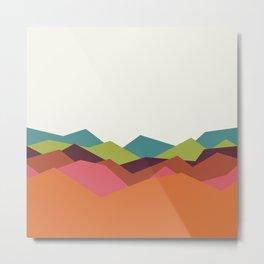 Chevron Mountain Metal Print