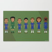 chelsea fc Canvas Prints featuring Chelsea FC 2013 by 8bit Football