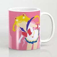 sailor moon Mugs featuring Sailor Moon by Polvo