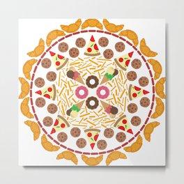Food circle Metal Print