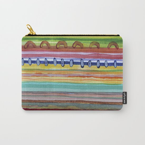 Striped Curtain Carry-All Pouch