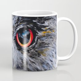 Sight: The Eyes of an Eagle Owl Coffee Mug