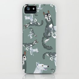 Totem Canadian wolf 2 iPhone Case
