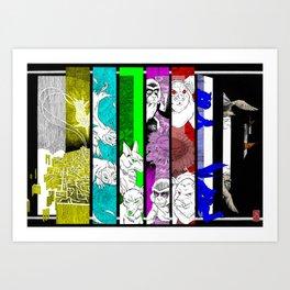TV Animals in full colors Art Print