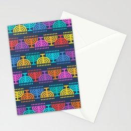 Hanukkah Menorah Pattern 2 Stationery Cards