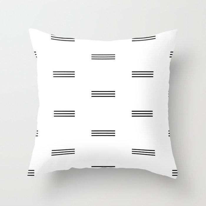 Black Lines Throw Pillow