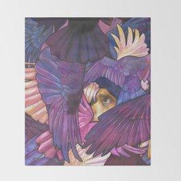 A Murder of Ravens Throw Blanket