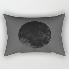 Black Japan Flag Rectangular Pillow