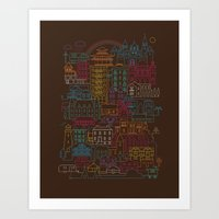 home sweet home Art Prints featuring Home Sweet Home by Rick Crane