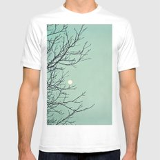Holding the moon White Mens Fitted Tee MEDIUM