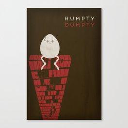 Humpty Dumpty Minimalist Fairytales Canvas Print
