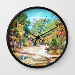 On the Road to Belmont - Theodore Clement Steele Wall Clock
