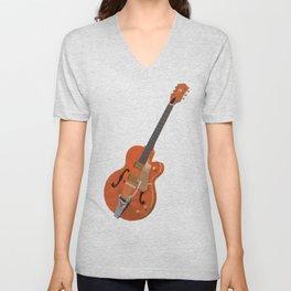 Gretsch Chet Atkins Guitar polygon art Unisex V-Neck