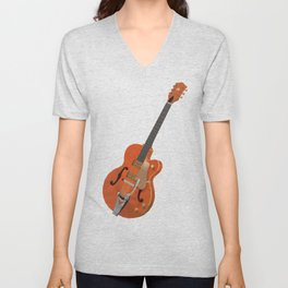 Gretsch Chet Atkins Guitar polygon art Unisex V-Neck