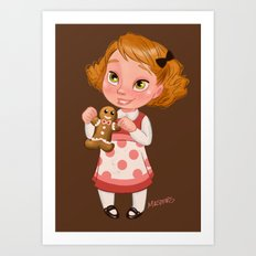 Gingerbread Baker Art Print
