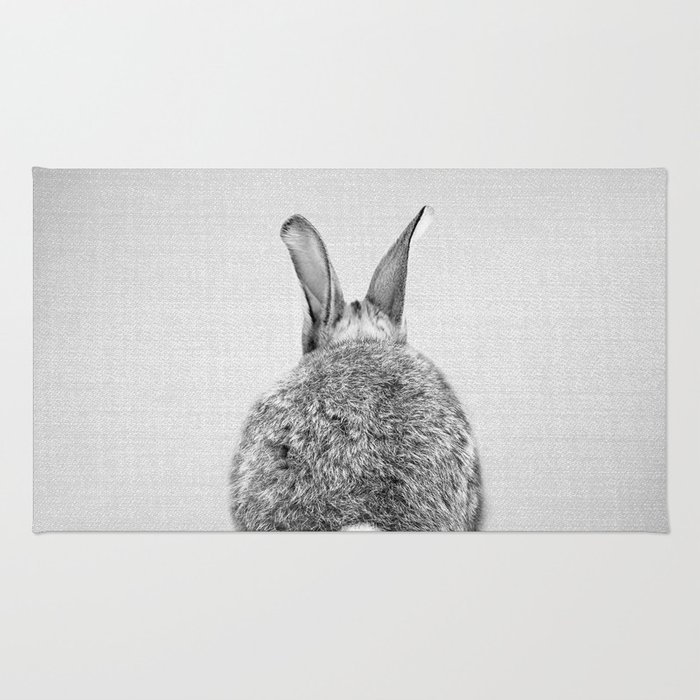 Rabbit Tail - Black & White Rug