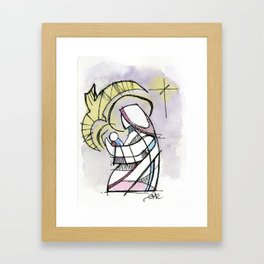 And Mary Kept These Things Unto herself Framed Art Print