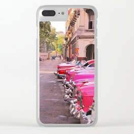 Old Cars Clear iPhone Case