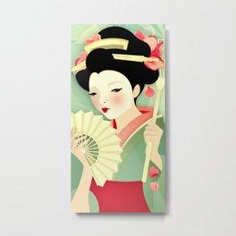 Geisha: Rose Metal Print