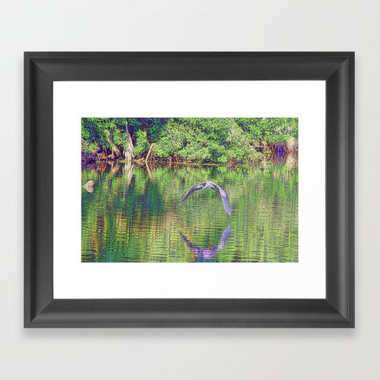 Blue In Holy Hill Framed Art Print