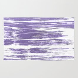 Modern abstract lilac lavender white watercolor brushstrokes Rug