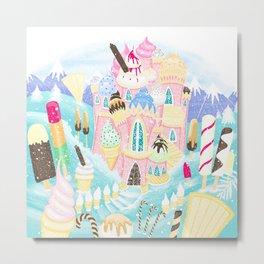 Ice cream Castle Metal Print