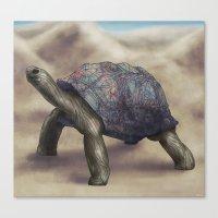 tortoise Canvas Prints featuring Tortoise by Ben Geiger