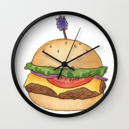 B is for Burger Wall Clock