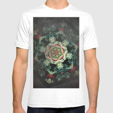 Dark forest mosaic kaleidoscope Mens Fitted Tee MEDIUM White