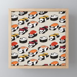 Sushi Panda Framed Mini Art Print