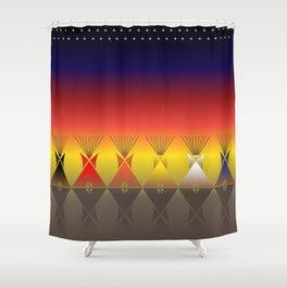 Night Tipi Shower Curtain