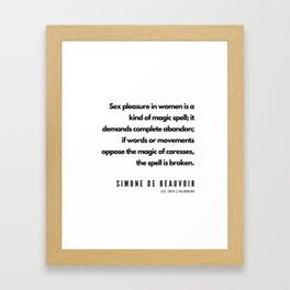 24    | Simone De Beauvoir Quotes | 190605 Framed Art Print