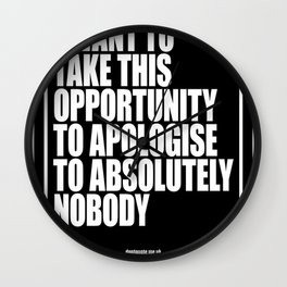 Conor McGregor - Absolutely Nobody(1) Wall Clock