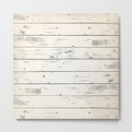 Light Natural Wood Texture Metal Print