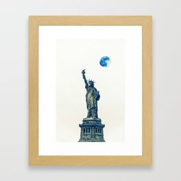 Lady of Libery and Freedom by Adam Asar 2 Framed Art Print