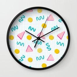 Geometric Memphis Wall Clock