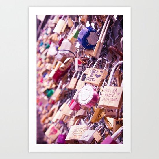 Paris Love Locks Art Print
