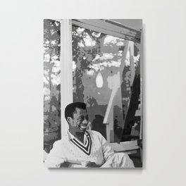 James Arthur Baldwin - Society6 African American Novelist Playwright Essayist Poet Activist 5 Metal Print