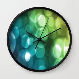 Green abstract design Wall Clock