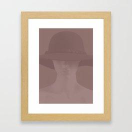 Leave your hat on Framed Art Print