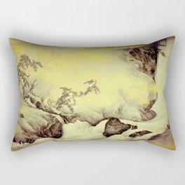 A Golden Winter Rectangular Pillow