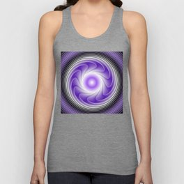 The Power Of Purple, Modern Fractal Art Graphic Unisex Tank Top