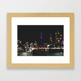 City's a Blur Framed Art Print