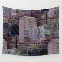 the office Wall Tapestries featuring office Dayze by David  Gough