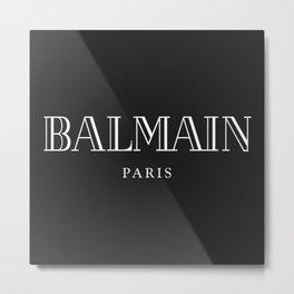 Balmain Paris White Logo Metal Print