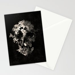 Spring Skull Monochrome Stationery Cards