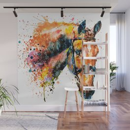 Colorful Horse Head Wall Mural
