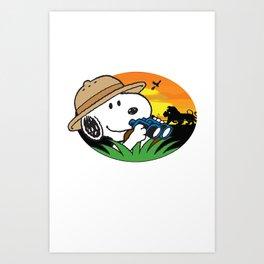 Safari Snoopy Art Print